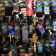 Find socks as well as sock liners with us.